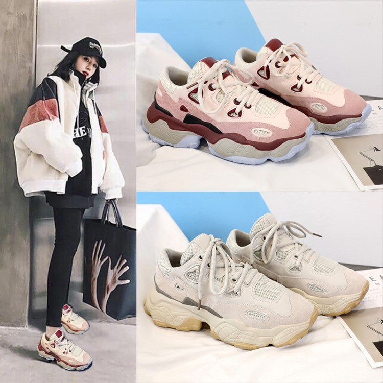 New Arrival Spring Autumn Women's Dad Sneakers
