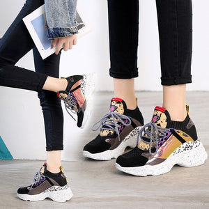 2019 New Color Matching Platform Casual Shoes