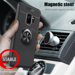 Luxury Magnetic Ring Stand Case For Samsung Galaxy S9 S8