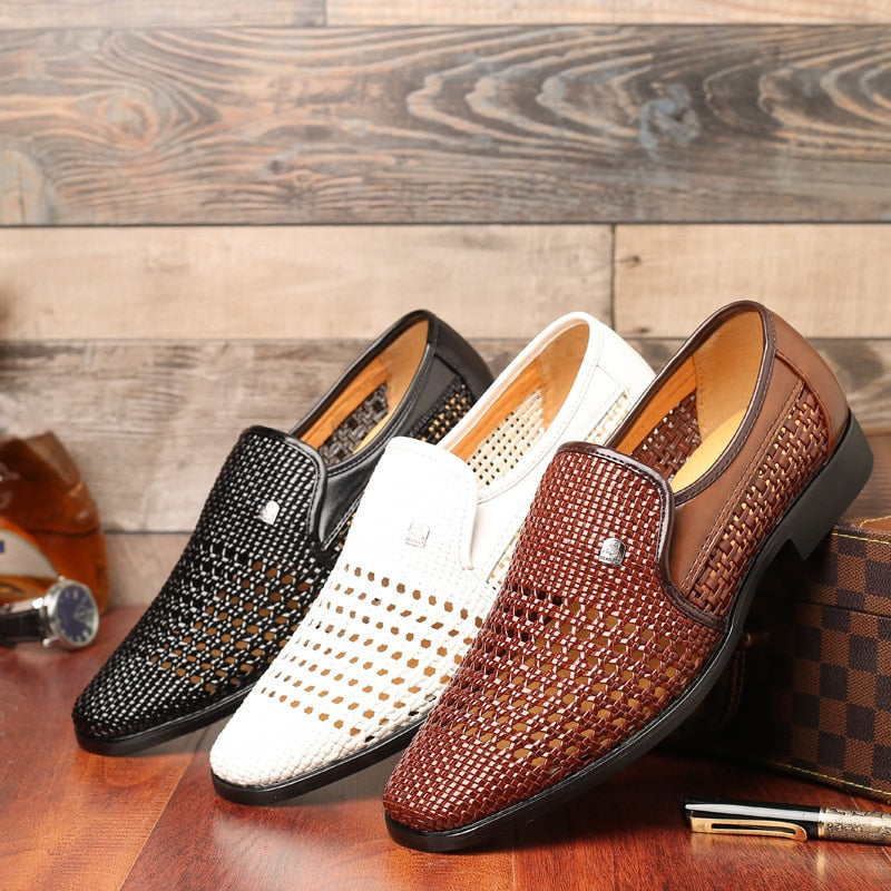 2019 New Summer Men's Genuine Leather Soft Bottom Shoes