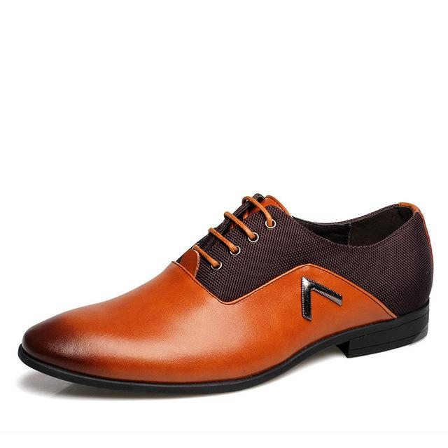 2019 Men Formal Leather Shoes Quality Brand Mens Dress Oxfords Shoes