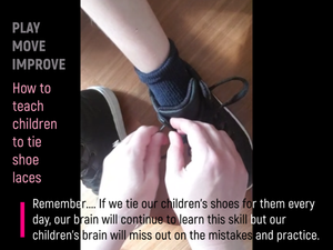 How to teach children to tie shoe laces without tears