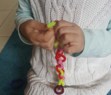 Pipe Cleaner and Play Dough Fine Motor Activities