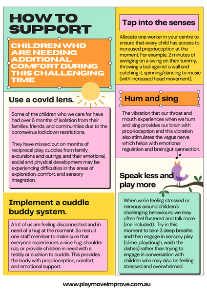 How to support children who are needing additional comfort during this challenging time