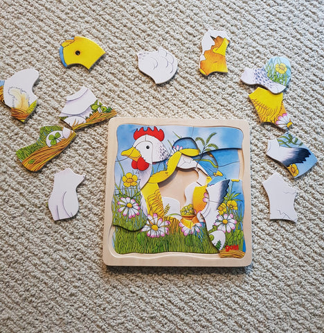 easter toys for children layered jigsaw puzzle