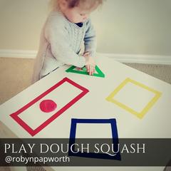 play dough home school early learning fine motor skill activity
