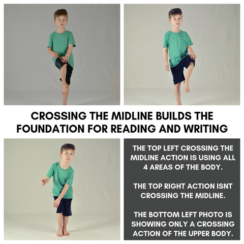 Free crossing the midline classroom routine