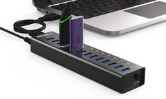 14 Port USB 3.0 Aluminum Hub - Juiced Systems
