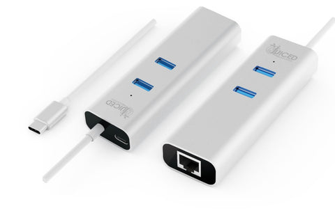 USB-C 2-Port USB 3.0 Gigabit Hub with Power Delivery - Juiced Systems