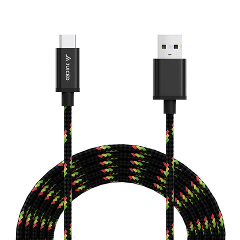 Juiced Systems USB Type C to USB-A 10 Gbps 6.5ft data charging cable