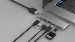 UltraHUB -  USB-C Multiport HDMI Macbook Pro Adapter - Juiced Systems