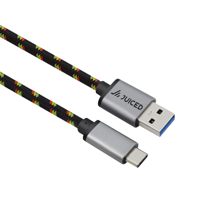 USB-C to USB 3.0 Braided Data & Charging Cable - Juiced Systems