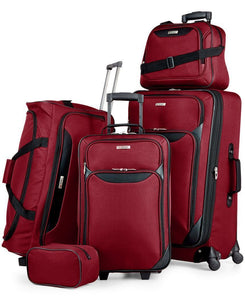 99c1ecfe4eeb  200 Tag Travel-Collection Springfield III 5 Piece Suitcase Luggage Set Red