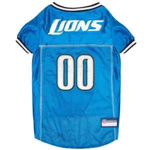 Detroit Lions Dog Jersey - Gray Trim