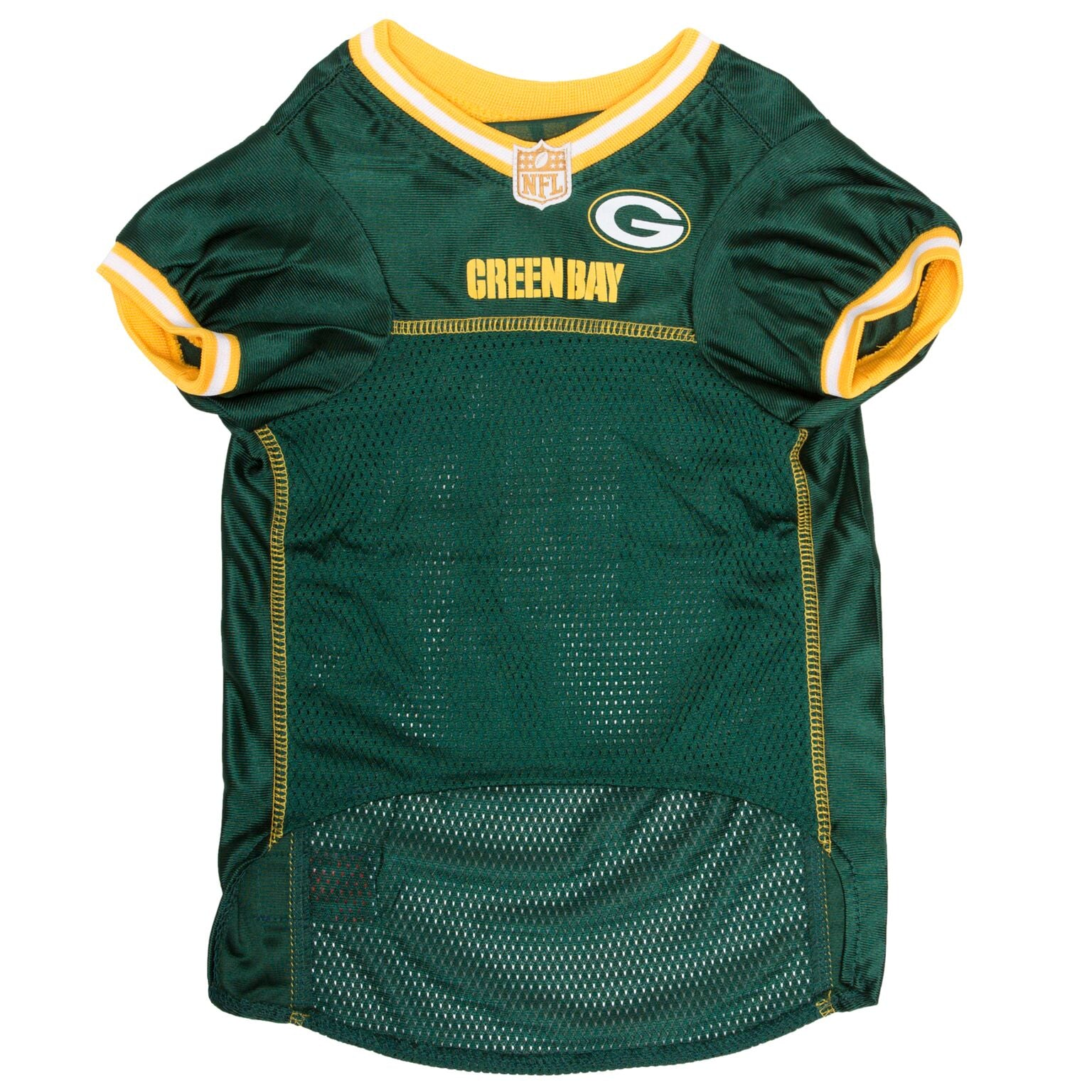 new styles 39289 7292e Green Bay Packers Dog Jersey - Yellow Trim