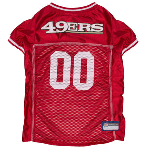 San Francisco 49ers Dog Jersey - White Trim