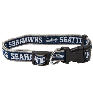 Seattle Seahawks Dog Collar - Ribbon