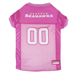 Seattle Seahawks Dog Jersey - Pink