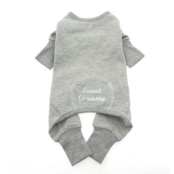 Sweet Dreams Thermal Dog Pajamas by Doggie Design - Alloy Gray