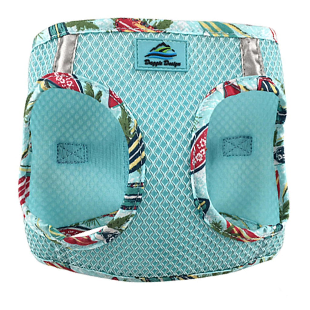 American River Hawaiian Trim Choke-Free Dog Harness by Doggie Design - Aruba Blue