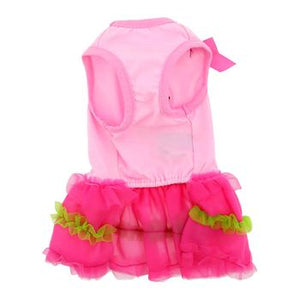 Flamingo and Palm Tank Designer Dog Dress