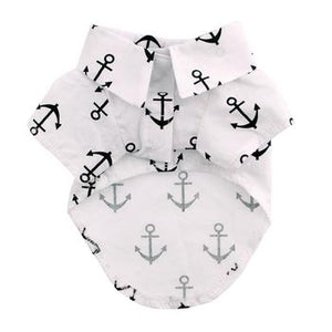 Hawaiian Camp Shirt Anchors Away