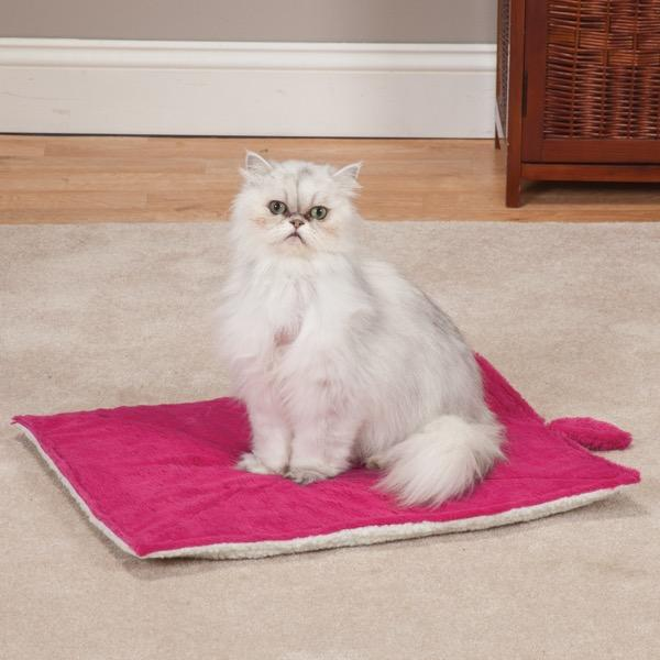 Meow Town Thermal Cat Mat - Fuchsia