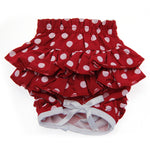 Polka Dot Ruffled Dog Panties by Doggie Design - Red