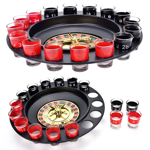 Shot Roulette Game With 16 Shot Glasses