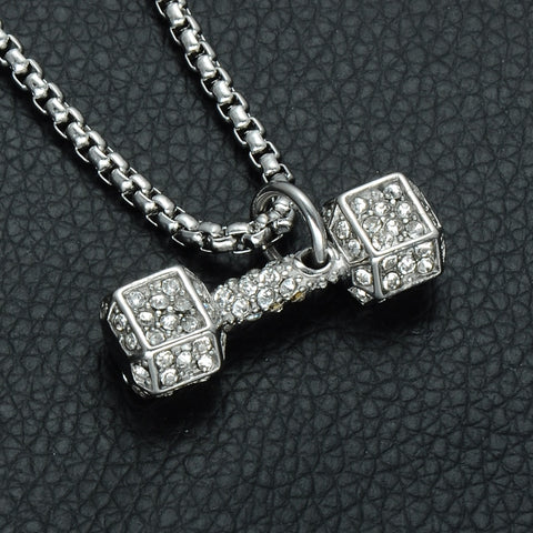 Image of 24K Fancy Dumbbell Necklaces