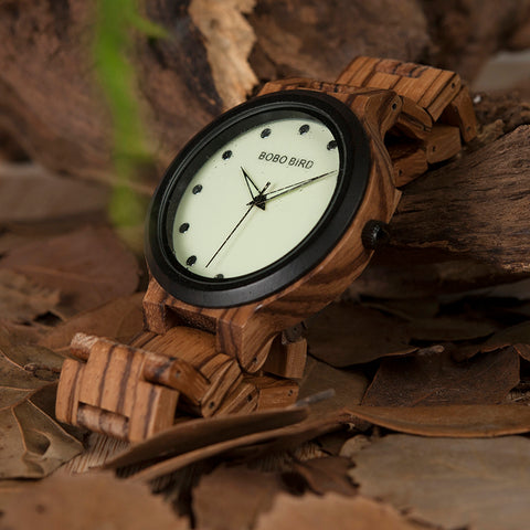 New Handmade Design Luminous Wooden Watch