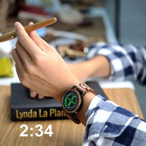 4 Colors Unique Wooden Digital Men's Watch