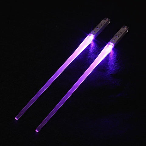 1 Pair LED Light Up Chopsticks Non-Slip Sticks Kitchen Party Tableware Creative