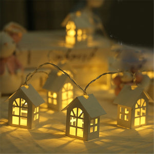 10PCs LED Christmas Tree Houses