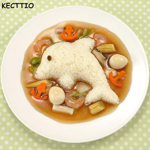 4 pcs/set New Cute Rabbit and Dolphin Rice Mold