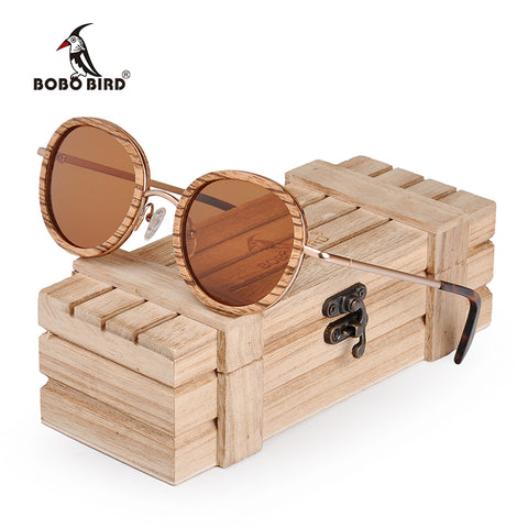 Fashion Wood Sunglasses Zebrawood For Men or Women