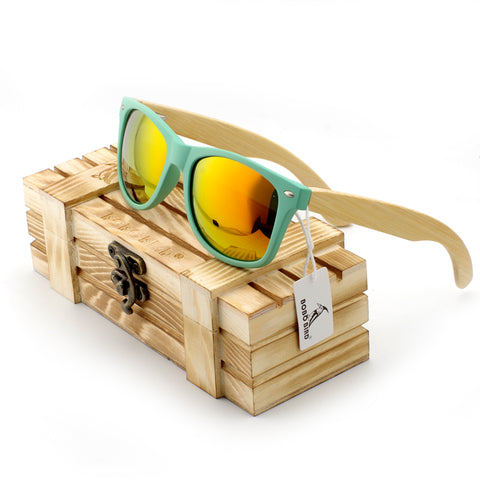 Fashion  Bamboo Sunglasses for Driving Men and Women