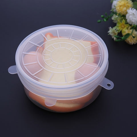 6 pcs/set Universal Silicon Stretch Lids