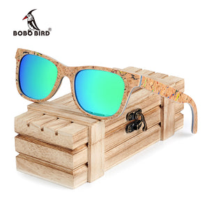 Women Colorful Polarized Fashionable Vintage Wooden Glasses