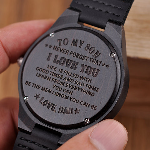 Engraved Wooden Watches  Personalized Gifts