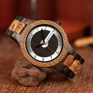 Luxury Retro Design Wooden Watch for Men