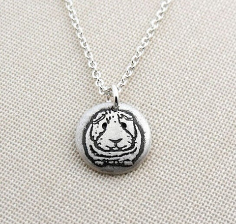 Retro guinea pig necklace