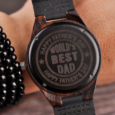 Personalized Engraved Wooden Watches Gifts