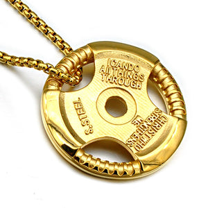 24K Barbell Necklaces