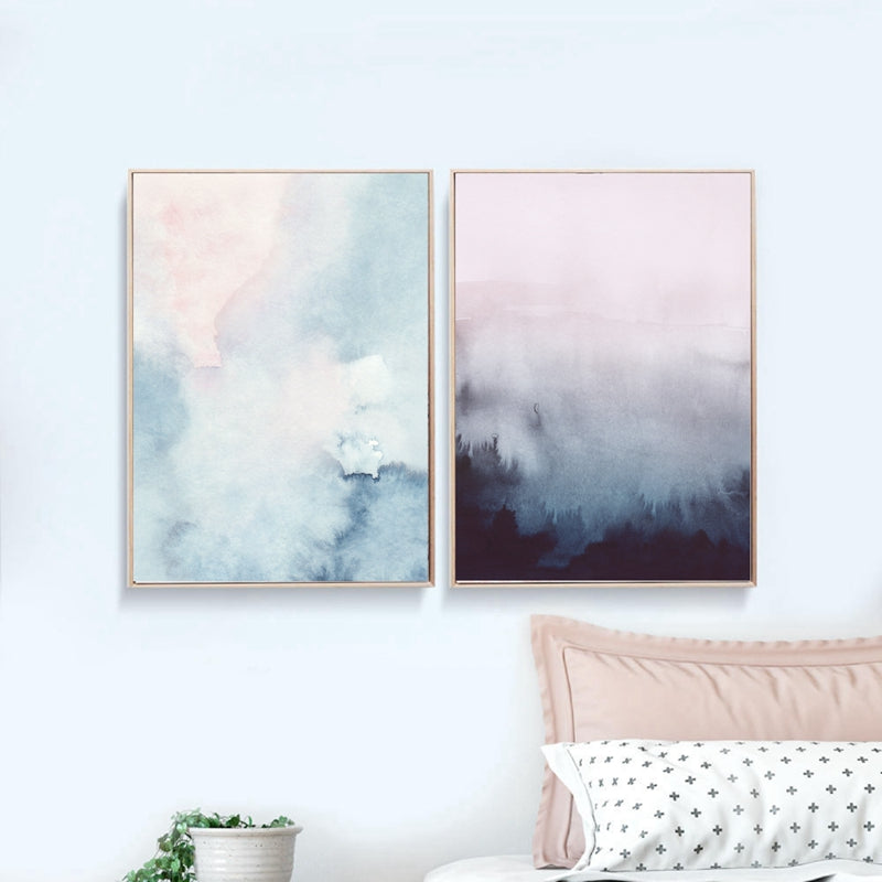 010d1f944321f Abstract Watercolor Canvas Wall Art