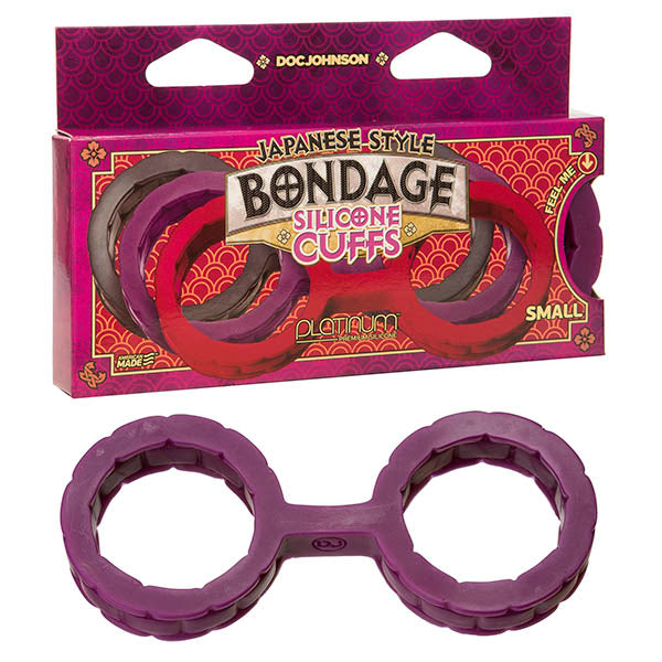 Japanese Bondage Silicone Cuffs - Purple Small Restraints - Brown Sugar Industries
