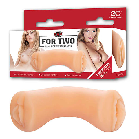 XXX For Two - Flesh Dual Ended Vagina Stroker