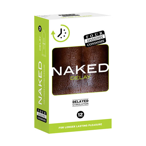 Four Seasons Naked Delay - Ultra Thin Condoms - 12 Pack - Brown Sugar Industries