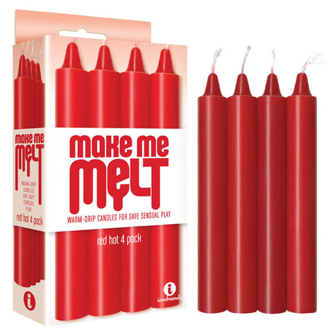 Make Me Melt Drip Candles - Red Hot Drip Candles - 4 Pack