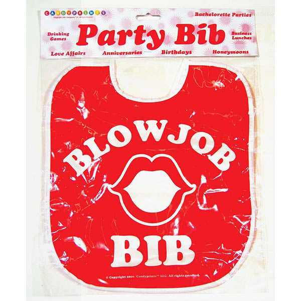 Blow Job Bib - Novelty Item - Brown Sugar Industries